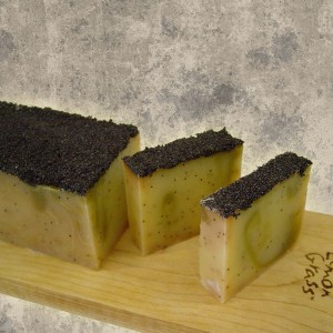 Keylime Poppyseed Scrub Soap Slice