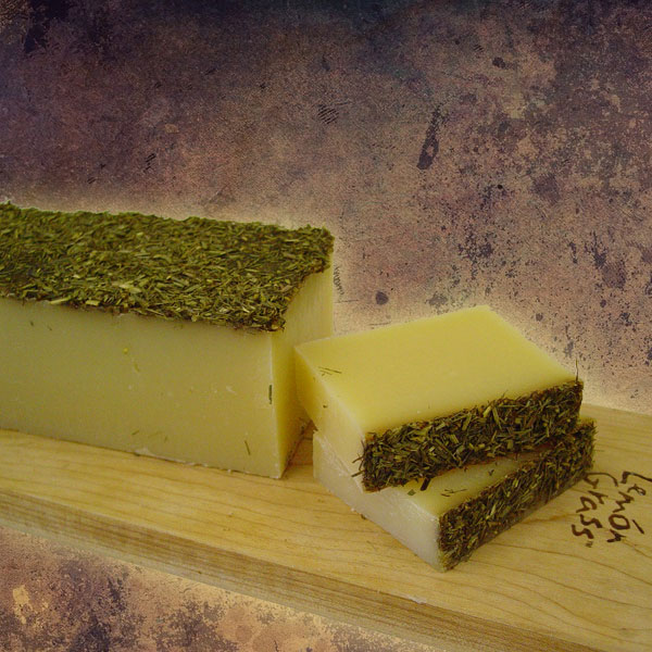 Organic Lemongrass Soap Slice