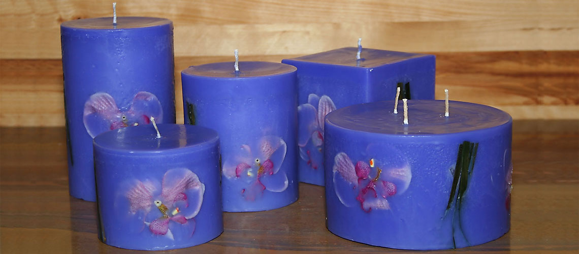 exotic scented candles