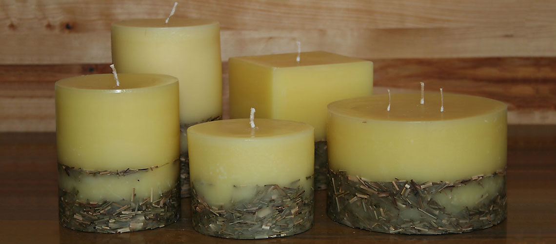 organic lemongrass scented candles