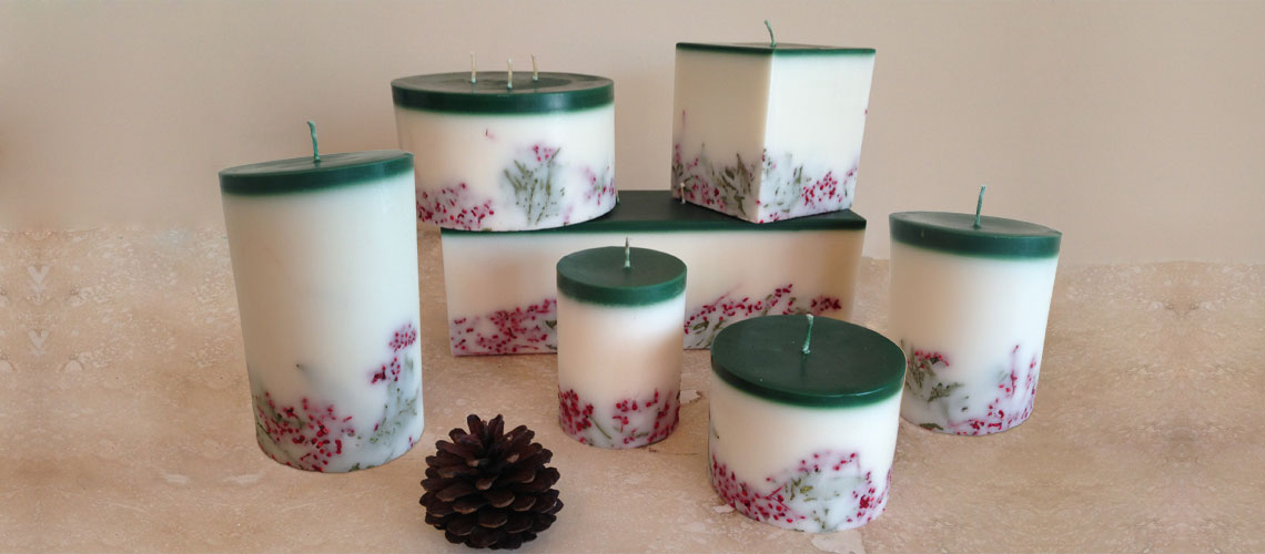 evergreen and spice candle collection
