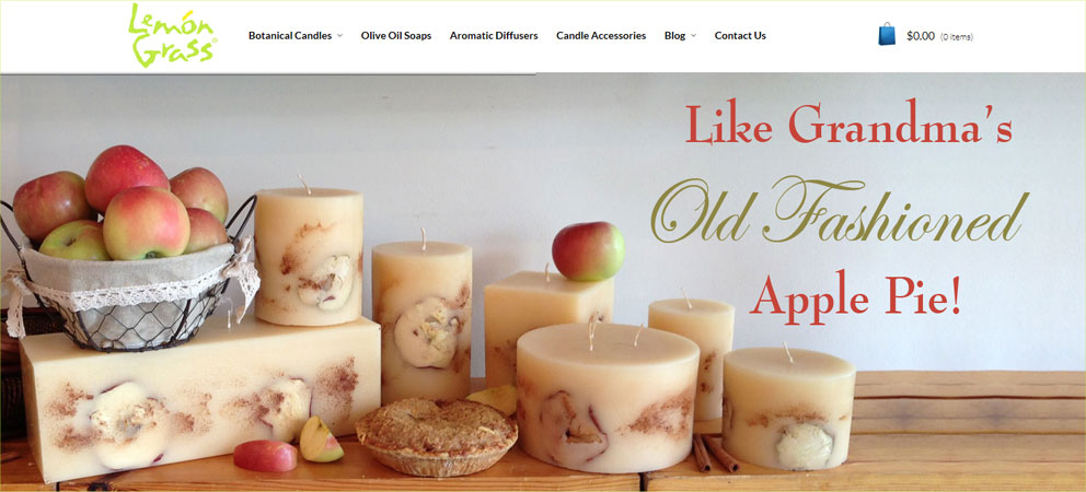Scented candles online lemon grass candles for Candele on line