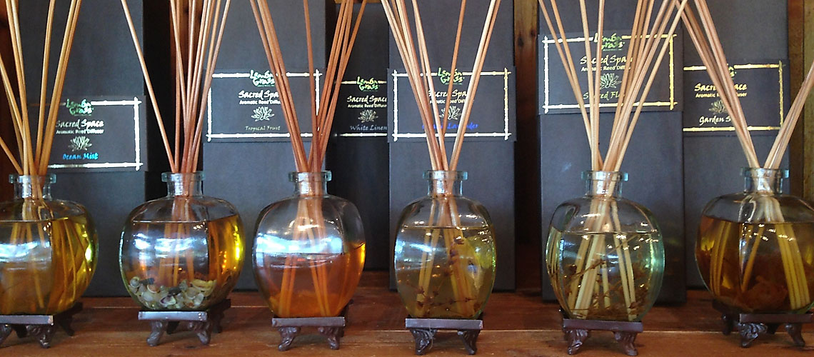aromatic diffusers made at lemon grass