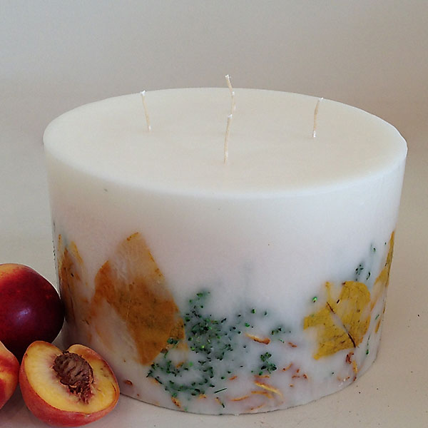 White Peach 6.5x10 giant candle