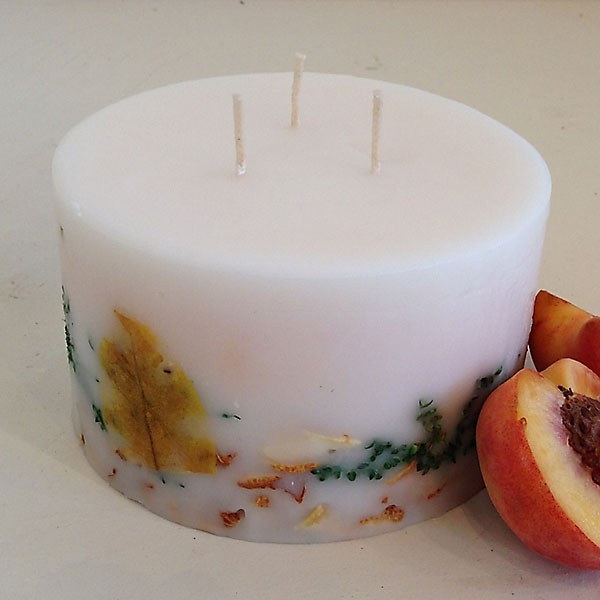 White Peach 6x3.5 Handmade Candle