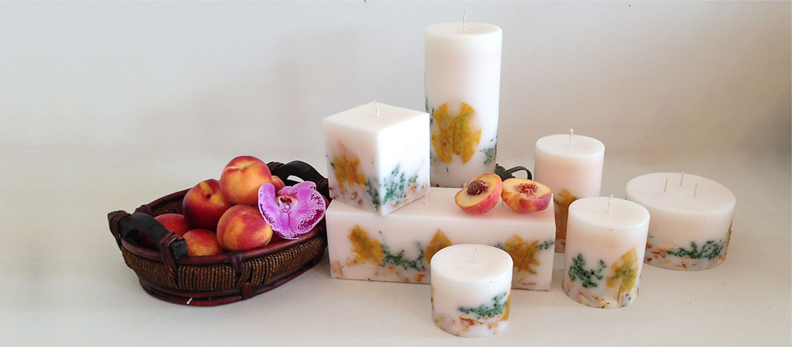 White Peach Candle Collection