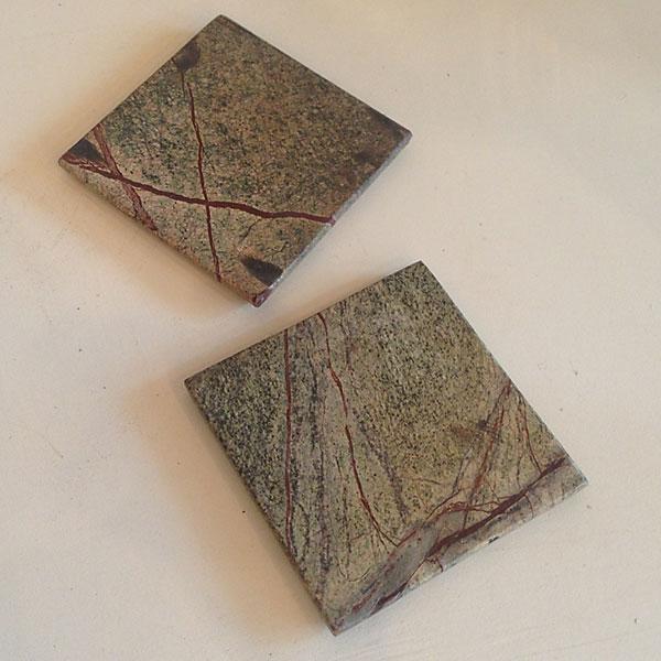 Mocha Marble Square & Mocha Marble Square - Lemon Grass Candles