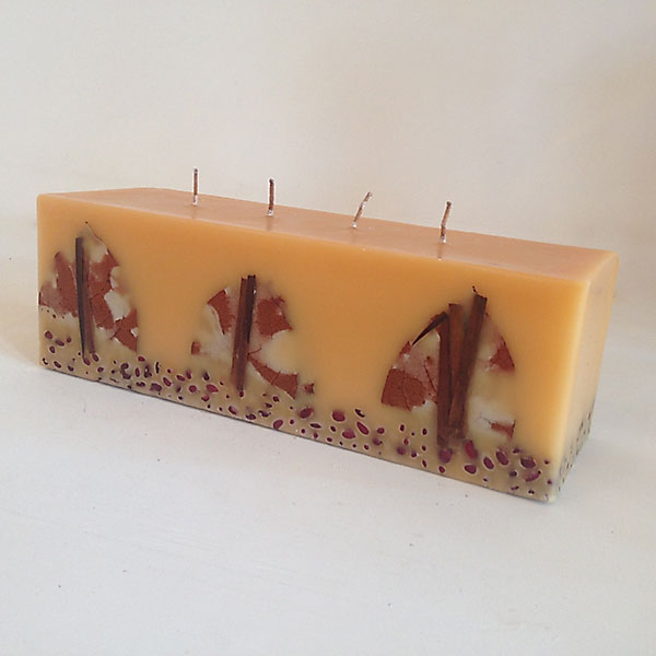 creme brulee scented 4 wick candle
