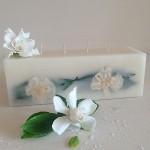 Gardenia Rain 4 Wick Brick Scented Candle