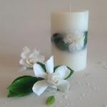 Gardenia Rain 4x6 round scented candle