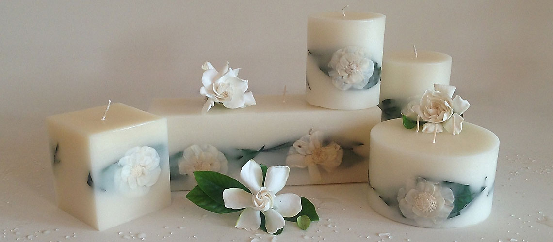 Gardenia Rain Scented Candle Collection