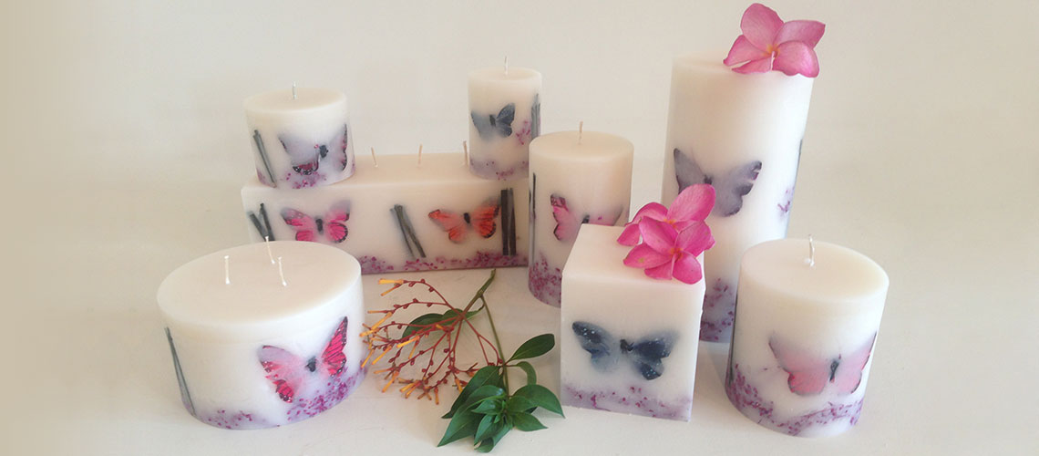 Tropical Fruits and Flowers Scented Candles