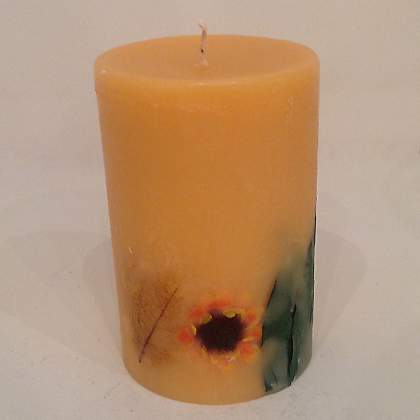Citrus Sunburst 4x6 round scented candle