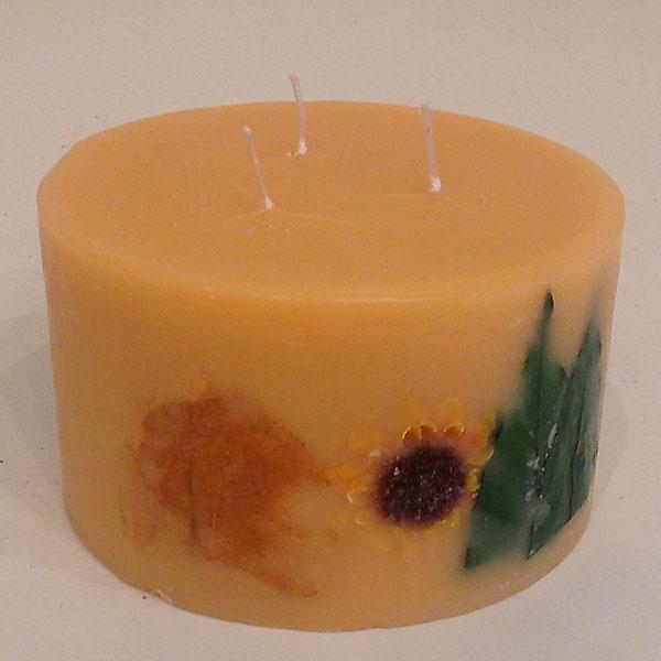 Citrus Sunburst 6x3.5 Round 3 wick scented candle