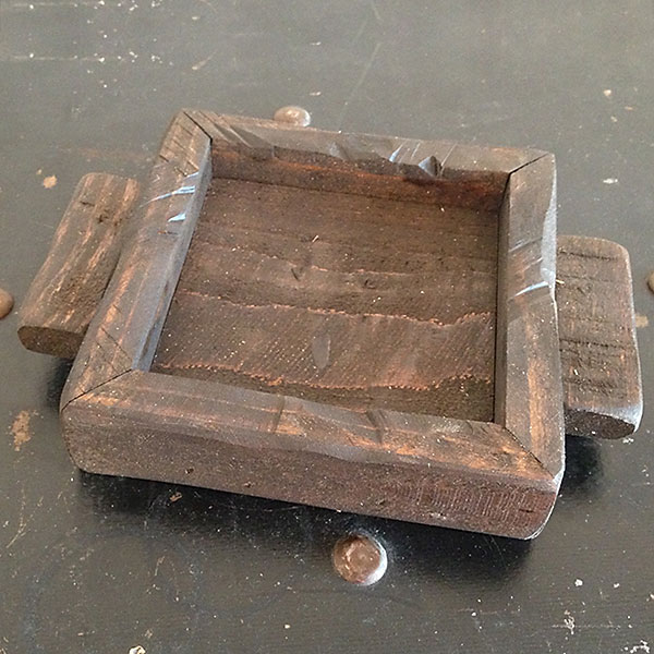 Espresso wood candle tray 4x4