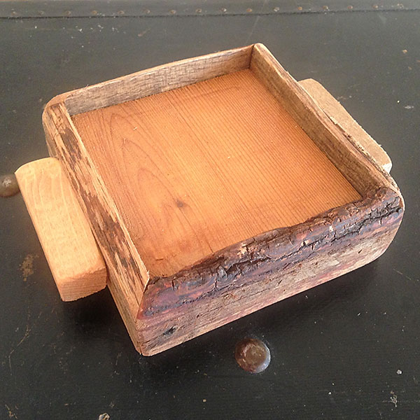 Ipwich Pine Cedar Block wood candle tray 4x4