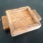 Ipwich Pine wood candle tray 4x4