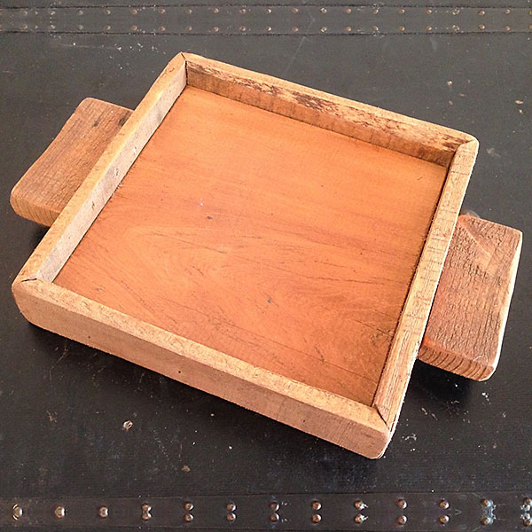 Ipwich Pine wood candle tray 7x7