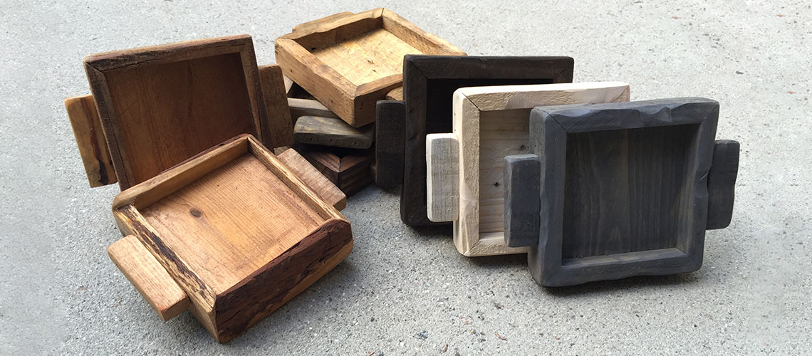Rustic Chic Wood Candle Trays