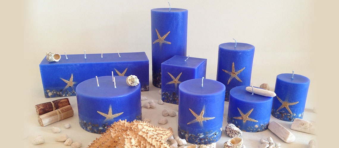 Sienna Blue scented candles