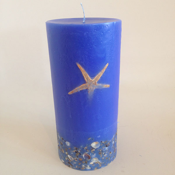 Sienna Blue scented candle 4.5×9.5 Tower