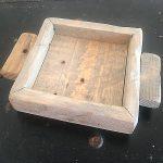 Weathered Oak wood candle tray 4x4