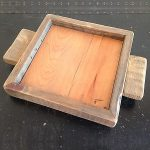 Weathered Oak wood candle tray 7x7