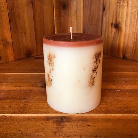 cinnamon apple bun scented candle 4x4.5