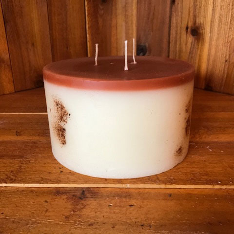 cinnamon apple bun scented candle 6x3.5