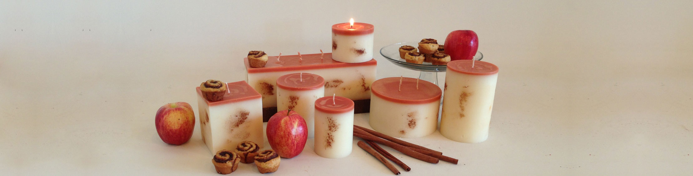 Cinnamon apple bun candle collection