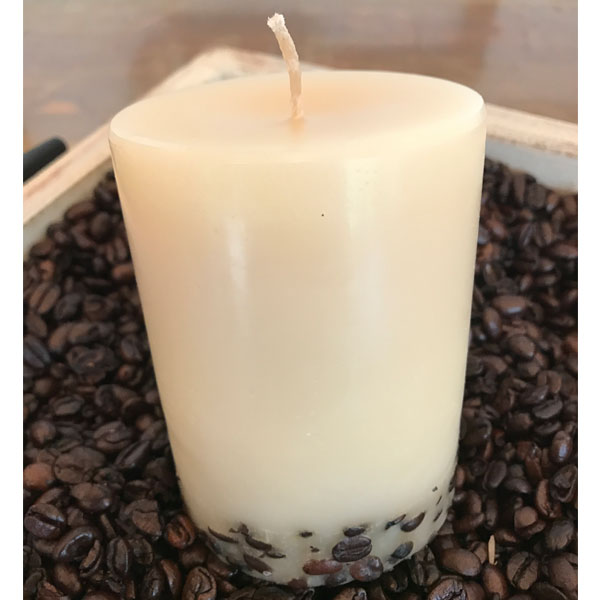limited edition coffee bean and cream candle