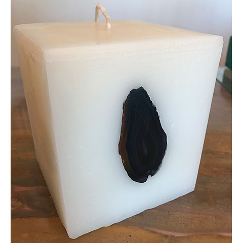 Brazilian Black Agate Candle